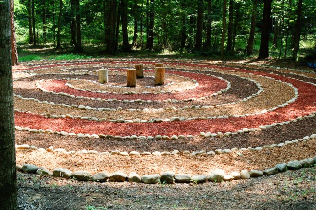 The labyrinth is accessible through the private gates with advance notice.