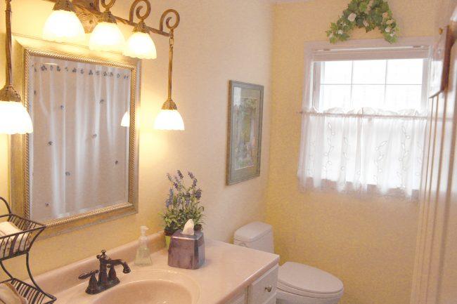 First floor bathroom has been renovated, too.